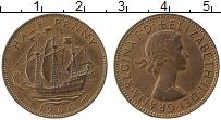 Изображение Монеты Великобритания 1/2 пенни 1966 Медь XF