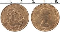 Изображение Монеты Великобритания 1/2 пенни 1967 Медь UNC- Елизавета II.