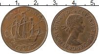 Изображение Монеты Великобритания 1/2 пенни 1967 Медь XF Елизавета II