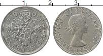 Изображение Монеты Великобритания 6 пенсов 1966 Медно-никель XF Елизавета II.