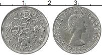 Изображение Монеты Великобритания 6 пенсов 1967 Медно-никель XF