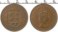 Изображение Монеты Остров Джерси 1/12 шиллинга 1966 Медь XF Елизавета II.