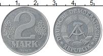 Изображение Монеты ГДР 2 марки 1975 Алюминий VF