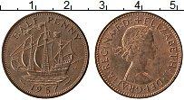 Изображение Монеты Великобритания 1/2 пенни 1957 Медь XF Елизавета II. Корабл