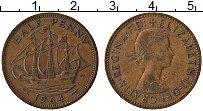 Изображение Монеты Великобритания 1/2 пенни 1964 Медь XF Елизавета II. Корабл