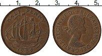 Изображение Монеты Великобритания 1/2 пенни 1959 Медь XF Елизавета II. Корабл