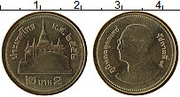 Изображение Монеты Таиланд 2 бата 2009 Латунь UNC- Буддийский храм Ват