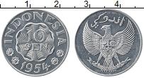 Изображение Монеты Индонезия 10 сен 1954 Алюминий UNC- Герб