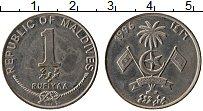 Изображение Монеты Мальдивы 1 руфия 1996 Медно-никель XF