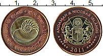 Изображение Монеты Индия Андамандские острова и Никобар 20 рупий 2011 Биметалл UNC-