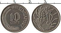 Изображение Монеты Сингапур 10 центов 1980 Медно-никель XF