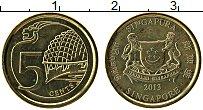 Изображение Монеты Сингапур 5 центов 2013 Латунь UNC-