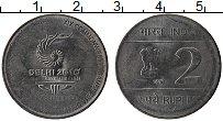 Изображение Монеты Индия 2 рупии 2010 Медно-никель UNC- XIX игры в Дели