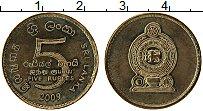 Изображение Монеты Шри-Ланка 5 рупий 2009 Латунь UNC-