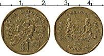 Изображение Монеты Сингапур 1 доллар 1997 Латунь XF