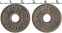 Изображение Монеты Фиджи 1 пенни 1959 Медно-никель UNC-