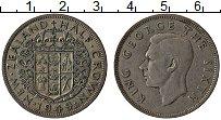Изображение Монеты Новая Зеландия 1/2 кроны 1949 Медно-никель XF- Георг VI
