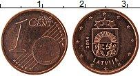 Продать Монеты Латвия 1 евроцент 2014 сталь с медным покрытием