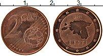 Продать Монеты Эстония 2 евроцента 2011 сталь с медным покрытием