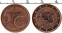 Продать Монеты Эстония 5 евроцентов 2011 сталь с медным покрытием