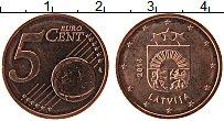 Продать Монеты Латвия 5 евроцентов 2014 сталь с медным покрытием