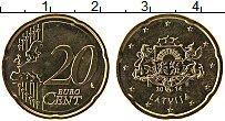 Продать Монеты Латвия 20 евроцентов 2014 Латунь