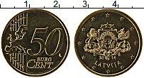 Продать Монеты Латвия 50 евроцентов 2014 Латунь