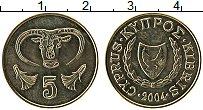 Изображение Монеты Кипр 5 центов 2004 Латунь UNC-