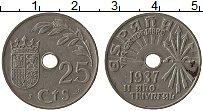Изображение Монеты Испания 25 сентим 1937 Медно-никель XF