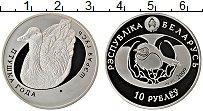 Изображение Монеты Беларусь 10 рублей 2009 Серебро Proof Серия Птица года. Се