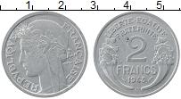 Изображение Монеты Франция 2 франка 1948 Алюминий XF