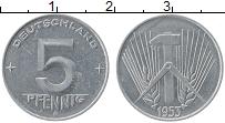 Изображение Монеты ГДР 5 пфеннигов 1953 Алюминий XF Е