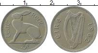 Изображение Монеты Ирландия 3 пенса 1962 Медно-никель XF Заяц