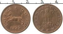 Изображение Монеты Индия 1 пайс 1953 Медь XF