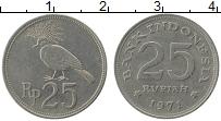 Изображение Монеты Индонезия 25 рупий 1971 Медно-никель XF Птица