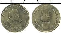 Изображение Монеты Индия 5 рупий 2010 Латунь XF 100 лет со дня рожде