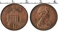 Изображение Монеты Великобритания 1 пенни 1971 Медь XF Елизавета II