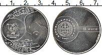 Изображение Монеты Португалия 8 евро 2004 Серебро UNC- Евро 2004