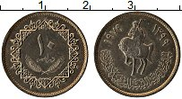 Изображение Монеты Ливия 10 дирхам 1979 Медно-никель XF Всадник на лошади