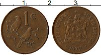 Изображение Монеты ЮАР 1 цент 1972 Медь XF Птицы