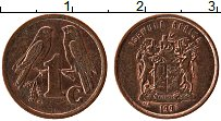 Изображение Монеты ЮАР 1 цент 1997 Медь XF