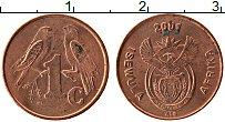 Изображение Монеты ЮАР 1 цент 2001 Медь XF