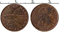 Изображение Монеты Остров Мэн 1/2 пенни 1976 Медь XF Елизавета II.