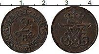 Изображение Монеты Дания 2 эре 1907 Медь XF Фредерик VIII