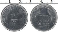Изображение Монеты Индия 2 рупии 2010 Железо UNC- 75 лет Резервному ба