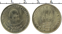 Изображение Монеты Индия 5 рупий 2010 Латунь UNC-