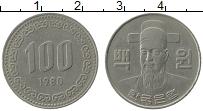Изображение Монеты Южная Корея 100 вон 1980 Медно-никель VF