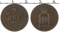 Изображение Монеты Швеция 2 эре 1882 Медь VF Оскар II
