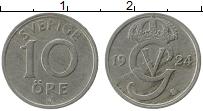 Изображение Монеты Швеция 10 эре 1924 Медно-никель VF