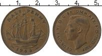Изображение Монеты Великобритания 1/2 пенни 1944 Медь XF Георг VI
